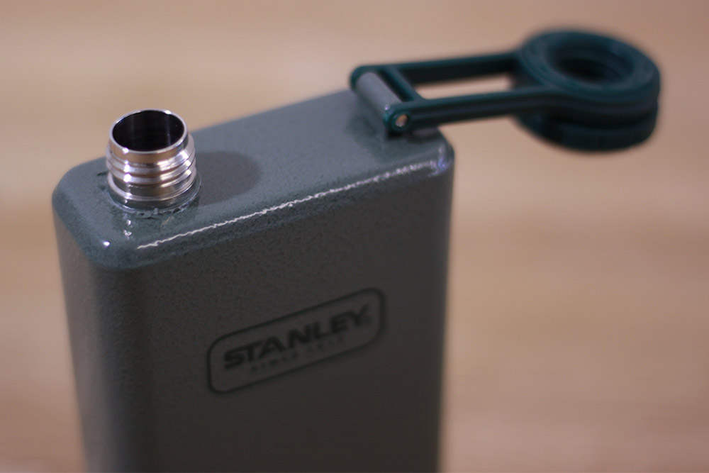 STANLEY(スタンレー) SS フラスコ 0.23L グリーン 01564-023 ねじ式の開閉フタ