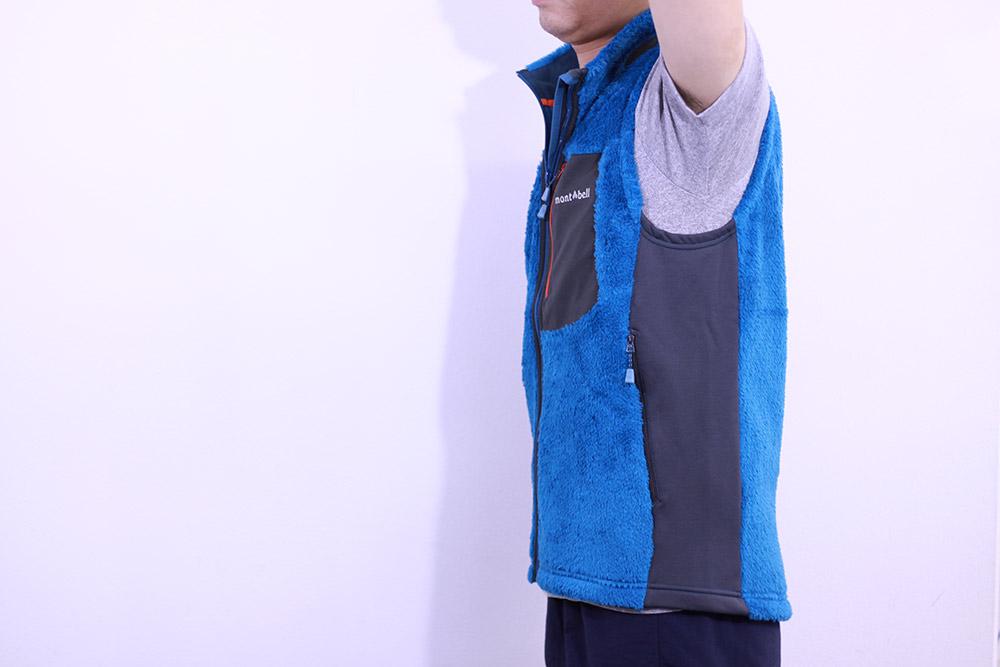 mont-bell(モンベル) クリマエアベスト Men's サイド