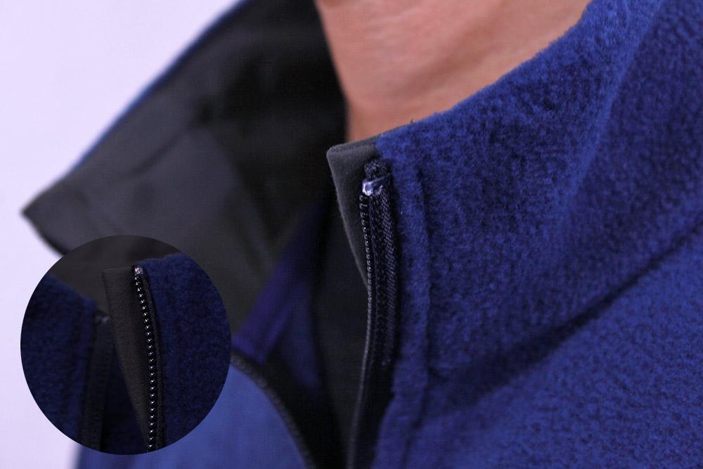 mont-bell(モンベル) クリマプラス100ジャケット 顎にジッパーが当たらない仕様