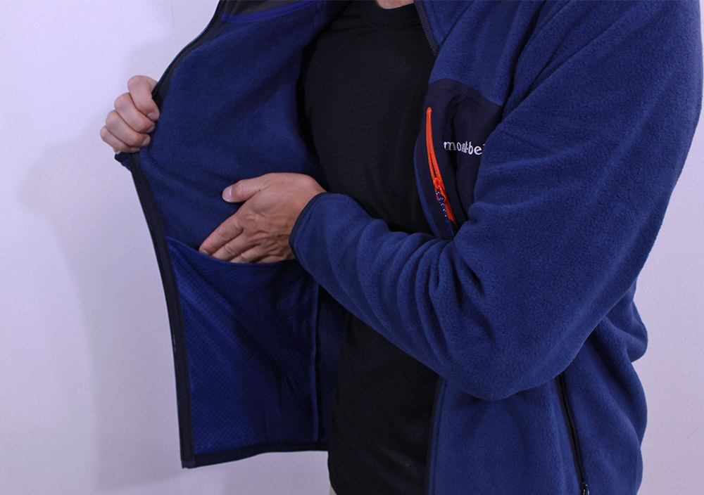 mont-bell(モンベル) クリマプラス100ジャケット 内ポケット