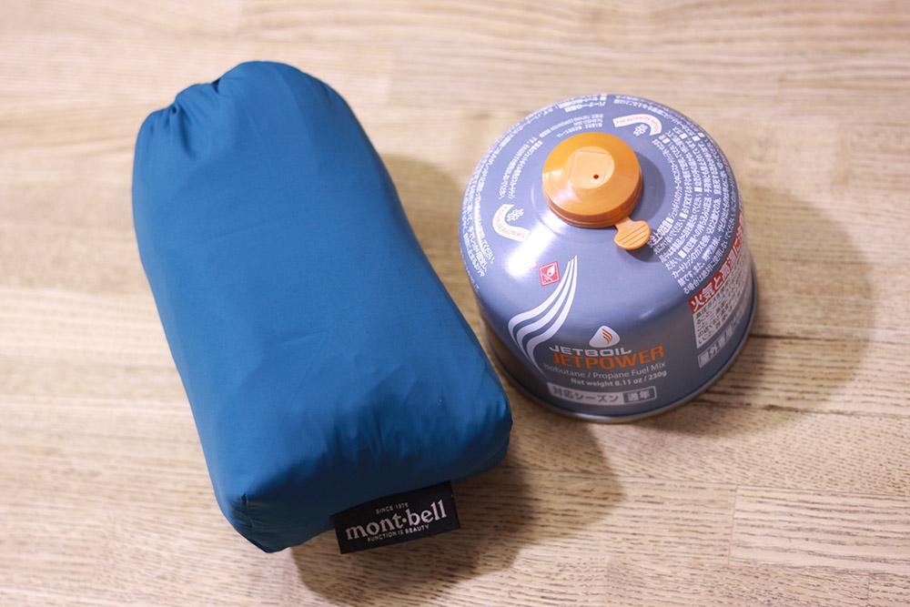 mont-bell(モンベル) ライトシェルジャケット コンパクトな収納でパッキングにも向いています