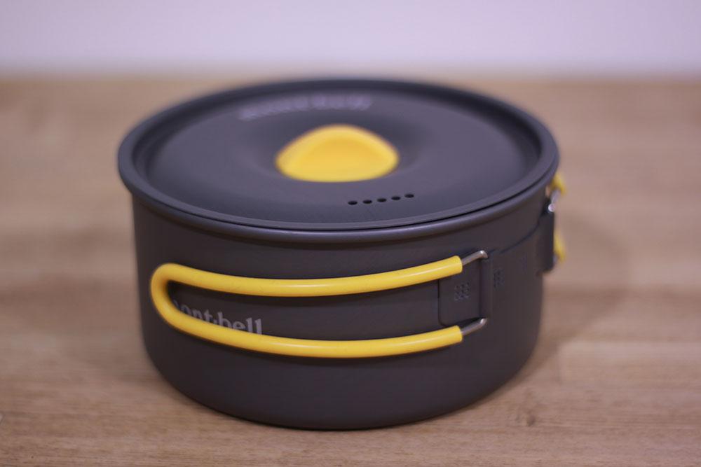 mont-bell(モンベル) アルパインクッカー14 1124686 ハンドルも折りたたんでコンパクトに