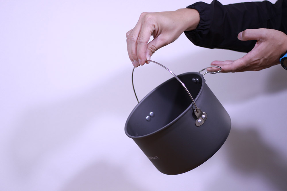 mont-bell(モンベル) アルパインクッカー18 1124688 使用時に使い勝手の良い二つのハンドル