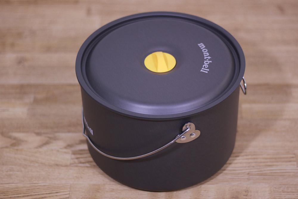 mont-bell(モンベル) アルパインクッカー20 1124689 シリコンカバー付きのフタは熱くなりにくい仕様