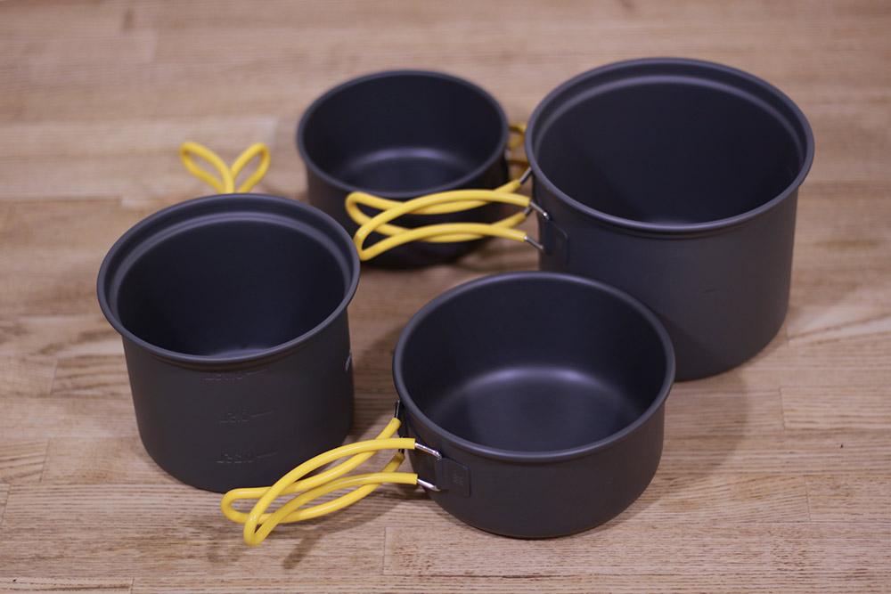 mont-bell(モンベル) アルパインクッカーディープ11+13セット 1124695 それぞれのフタも皿やカップとして使用可能