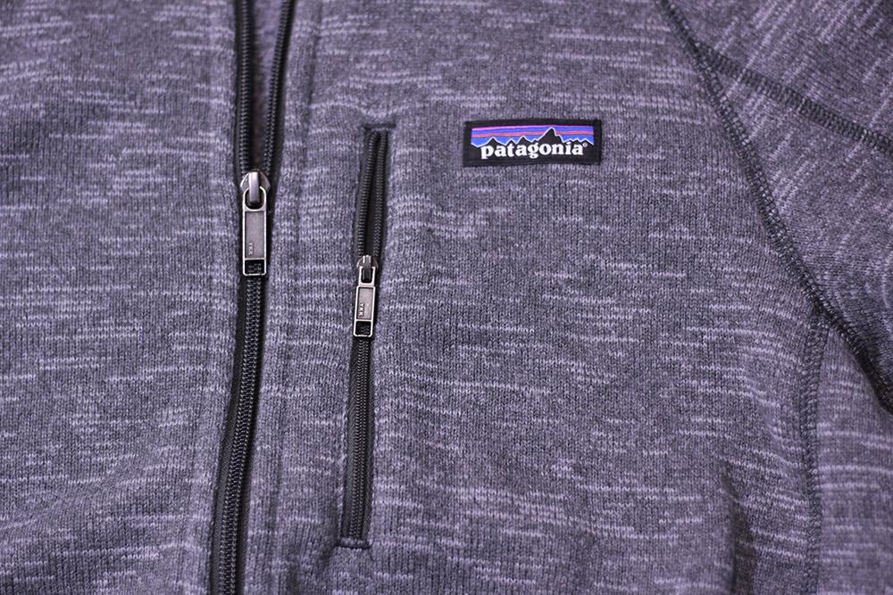 パタゴニア ベターセータージャケット フロントジッパー 胸ポケット