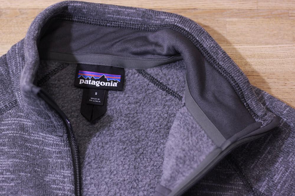 パタゴニア ベターセータージャケット 首回り