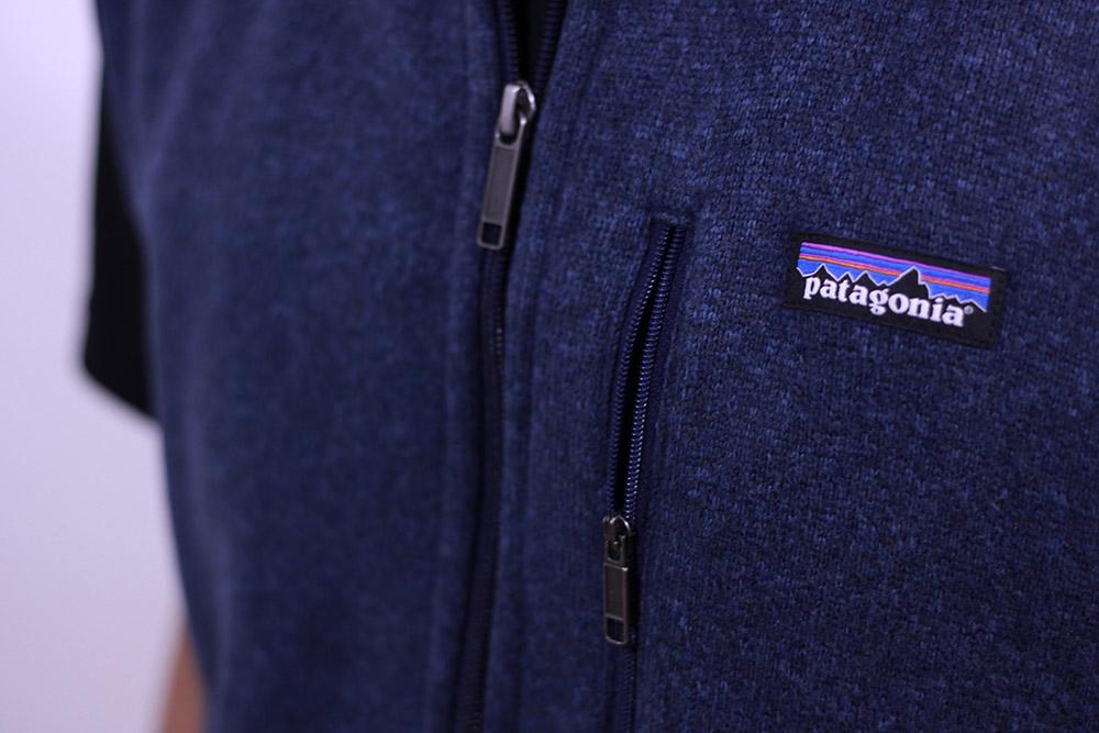 パタゴニア ベターセーターベスト フロントジップと胸ポケット