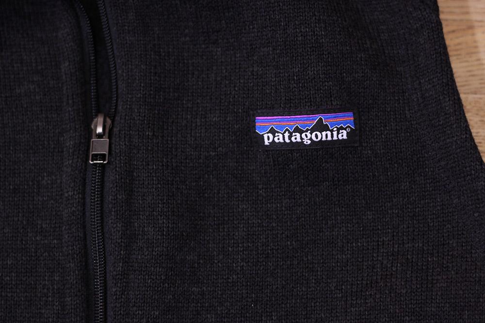 パタゴニア ベターセーターベスト フロントジッパーと胸部