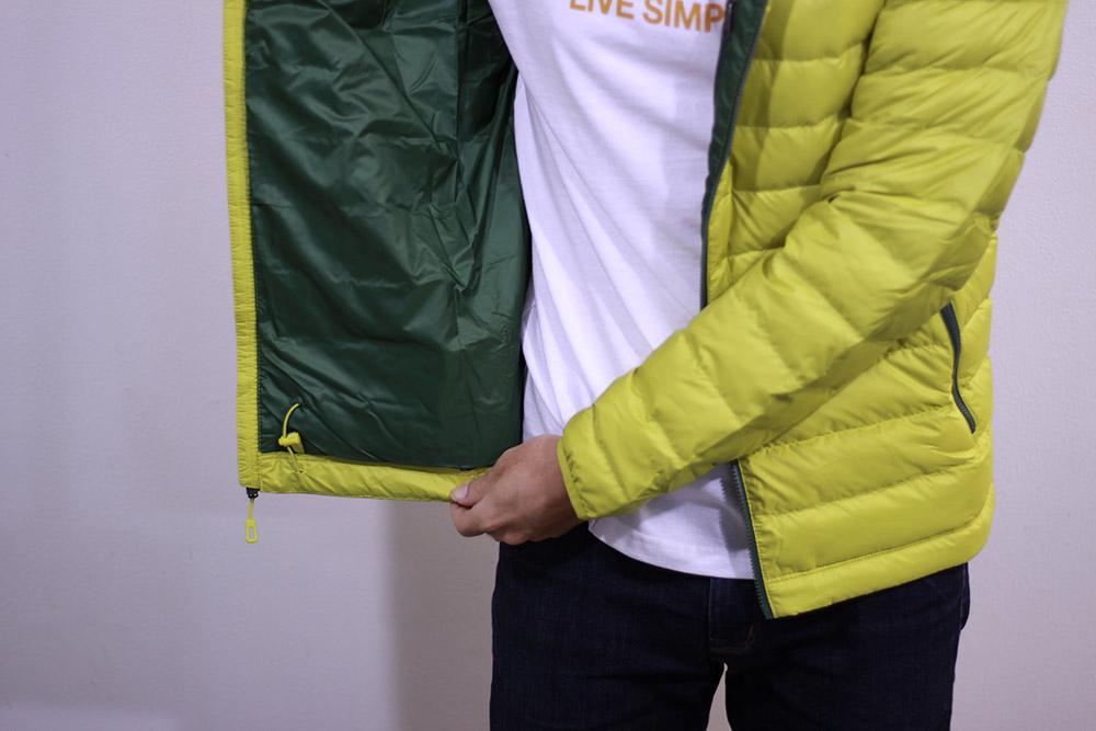 patagonia(パタゴニア) M's Down Sweater Hoody 84701 裾部分のドローコード