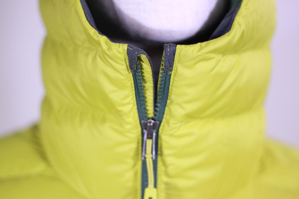 patagonia(パタゴニア) M's Down Sweater Hoody 84701 ジッパーが顎にあたらない仕様