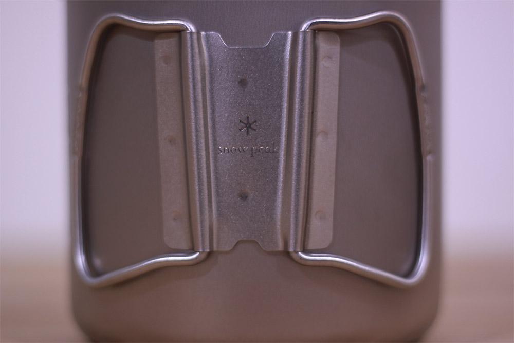 SnowPeak(スノーピーク) チタントレック900 SCS-008T 留め具部分にもスノーピークのロゴ