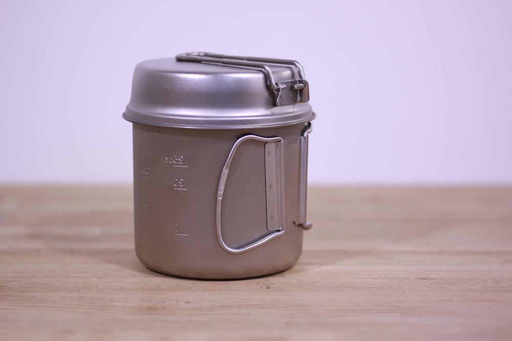 SnowPeak(スノーピーク) チタントレック900 SCS-008T ガス缶とバーナーを入れてコンパクトに収納