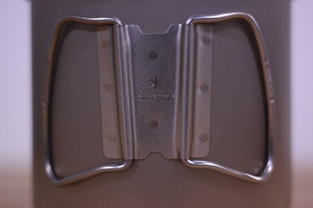 SnowPeak(スノーピーク) チタントレック1400 SCS-009T ハンドル留め具に刻印されたロゴ