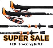 SALE!! LEKI(レキ) トレッキングポール SPD2サーモライトXL 335オレンジ 1300317